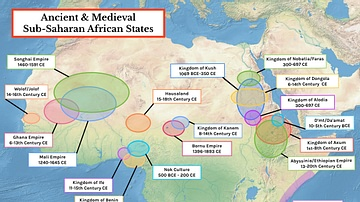 Map of Ancient & Medieval Sub-Saharan African States
