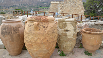 Minoan Storage Jars at the Palace of Knossos