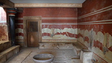 Throne Room at the Palace of Knossos