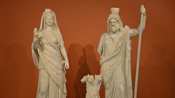 Statue Group of Persephone-Isis and Pluto-Serapis with Cerberus
