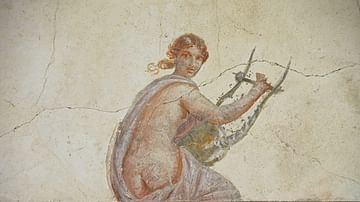 Painted Figure with Lyre
