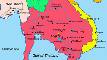 Khmer Empire c. 900 CE