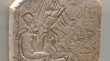 Akhenaten & Nefertiti at a Feast