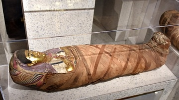Mummified Girl from the Tomb of Aline