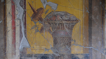 Fresco with Basket of Fruit, Oplontis Villa Poppaea