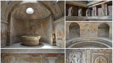 The Forum Baths in Pompeii