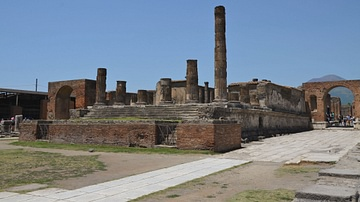 The Temple of Jupiter in the Forum of Pompeii