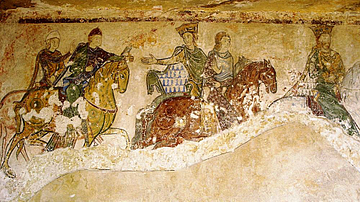 Royal Hunt Fresco, Chapelle Sainte-Radegonde