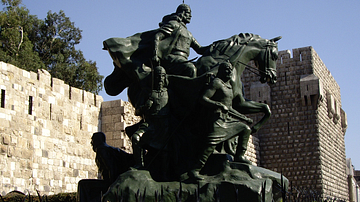 Statue of Saladin in Damascus