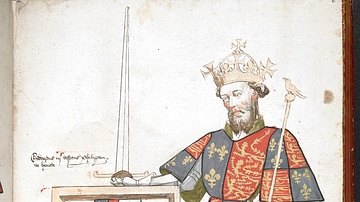 Drawing of Edward III of England