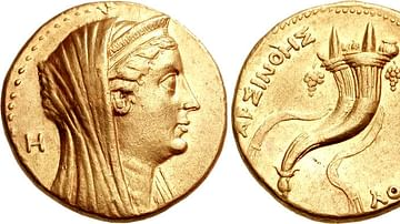 Coin Portrait of Arsinoe II