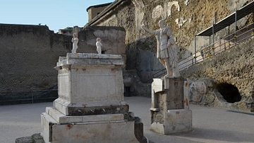 Terrace of Marcus Nonius Balbus in Herculaneum