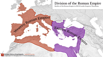 Western & Eastern Roman Empire, 395 CE
