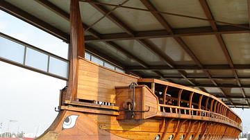 Trireme Hull with Bronze Ram