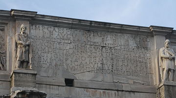 Inscription, Arch of Constantine I