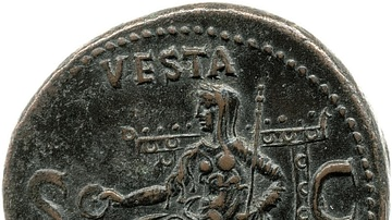 Coin Depicting Vesta