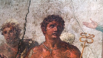 Painting of Mercury, House of the Vettii