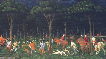 The Hunt by Uccello