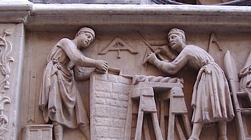 Renaissance Sculptor's Workshop Relief