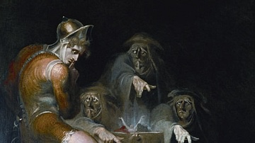 Macbeth Consulting the Vision of the Armed Head by Fuseli