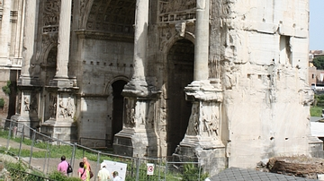 Arch of Septimius Severus, Rome [Side View]