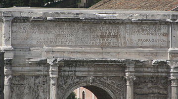 Inscription, Arch of Septimius Severus, Rome