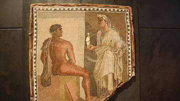Mosaic with Orestes & Iphigenia