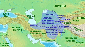 Map of the Greco-Bactrian Kingdom