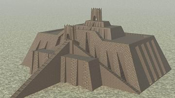 Reconstruction of the Ziggurat of Ur