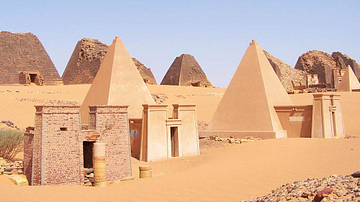 Meroe Pyramids Reconstruction