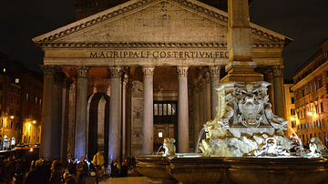 The Pantheon by night, Rome