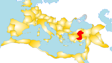 Map of the Roman Province of Galatia