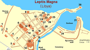 Map of Lepcis Magna