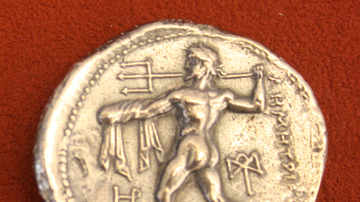Poseidon, Silver Tetradrachm of Macedon