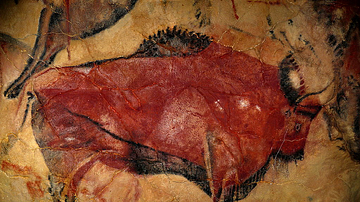 Cave Painting in the Altamira Cave