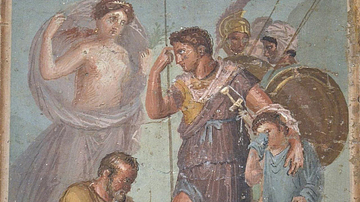Fresco with Wounded Aeneas