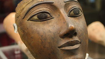 Face from an Egyptian Coffin