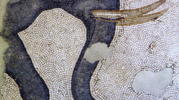 Detail of a 6th Century CE Elephant Mosaic