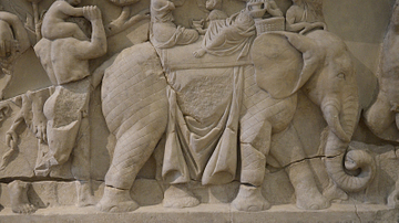 Detail of Roman Sarcophagus with an Elephant