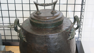 Roman Bronze Cooking Pot