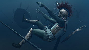Greek Hoplite Drowning