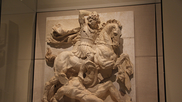 Metope with Pyrrhus in Battle