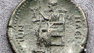 Statue of Zeus at Olympia on a Coin of Hadrian