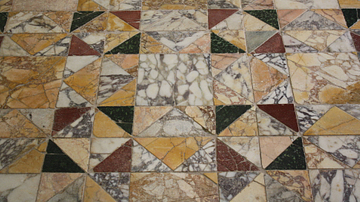Opus Sectile Flooring [Triangles]