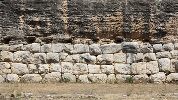 City Wall of Stone & Opus Caementicium, Roman Empuries (Detail)