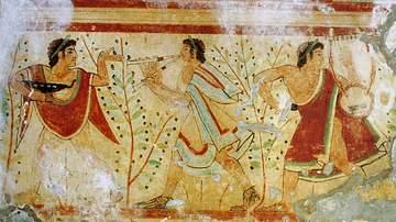 Musicians Wall-painting, Tarquinia