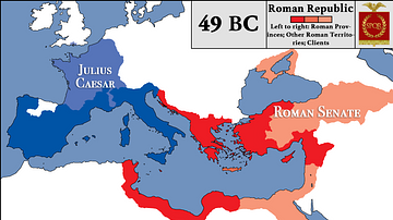 Roman Republic at the Beginning of Caesar's Civil War
