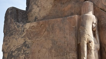 Side Panel, Colossus of Memnon