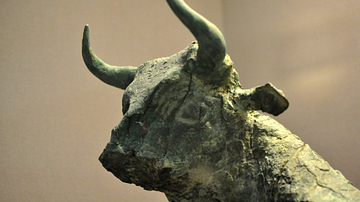 Bull's head from the Temple of Ninhursag