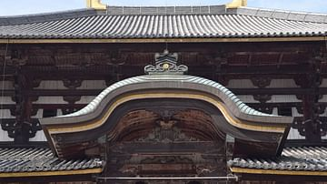 Ornate Roof of Daibutsuden at the Todaiji Temple Complex